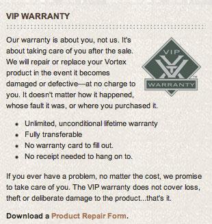 Optics Warranty
